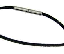 stainless steel black cord chain